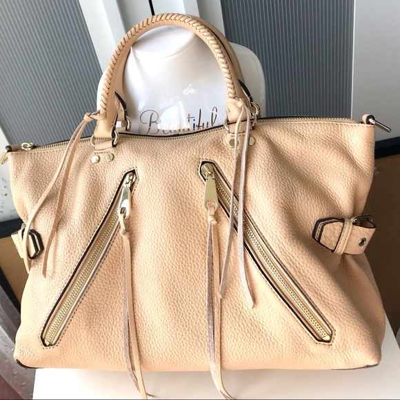 Rebecca Minkoff Handbags - Rebecca Minkoff Moro Leather Satchel in Biscuit